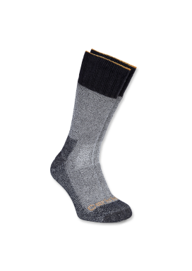 COLD WEATHER BOOT SOCK, Heather Black