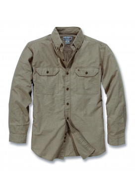 Carhartt L/S FORT SOLID SHIRT, Dark Tan Chambray