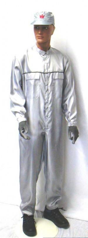 Lackieroverall aus Viskose-Seide, Silber Arbeitsschutzbekleidung Bild