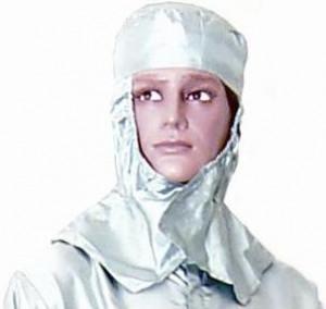 Lackier-Haube aus Seide, Silber Arbeitsschutzbekleidung Bild