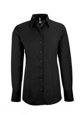 Damen-Bluse Basic Regular Fit, schwarz
