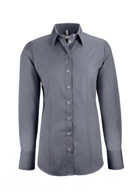 Damen-Bluse Basic Regular Fit, anthrazit