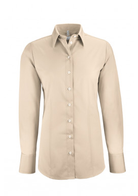 Damen-Bluse Basic Regular Fit, beige