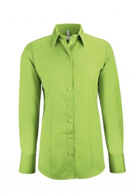 Damen-Bluse Basic Regular Fit, apfelgrün