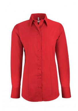 Damen-Bluse Basic Regular Fit, rot