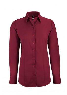 Damen-Bluse Basic Regular Fit, bordeaux