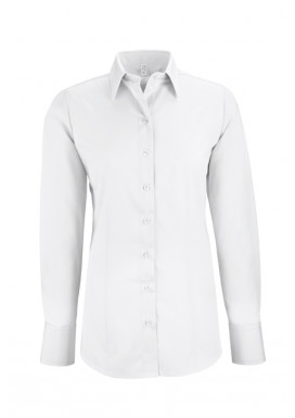 Damen-Bluse Basic Regular Fit, weiß