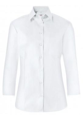 Damen-Bluse 3/4 Arm, Weiß, Basic