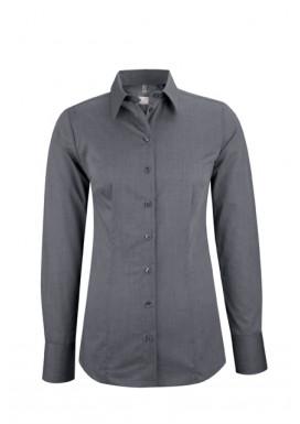 Damen-Bluse Regular Fit, Fil á Fil Anthrazit, Premium
